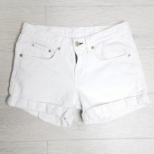 rag & bone Boyfriend Shorts In Aged Bright White.